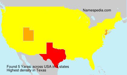 Surname Yarasi in USA