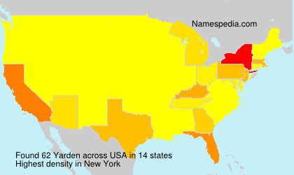 Surname Yarden in USA