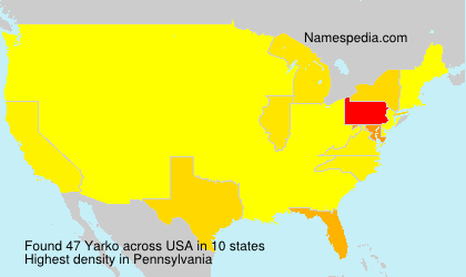 Surname Yarko in USA