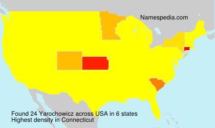 Familiennamen Yarochowicz - USA