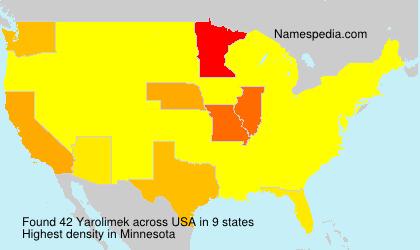 Surname Yarolimek in USA