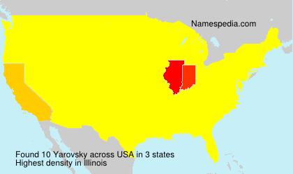Familiennamen Yarovsky - USA