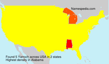 Surname Yarroch in USA