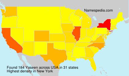 Familiennamen Yaseen - USA