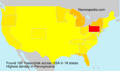Surname Yasenchak in USA
