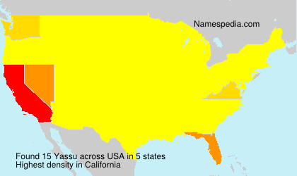 Surname Yassu in USA