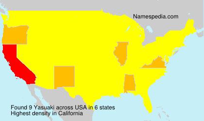 Surname Yasuaki in USA
