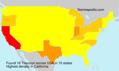 Surname Yasunori in USA