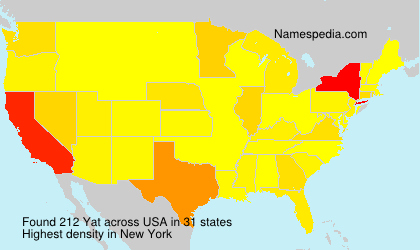 Surname Yat in USA