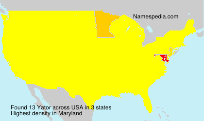 Surname Yator in USA