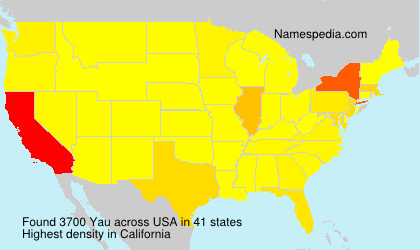 Surname Yau in USA