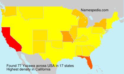 Surname Yazawa in USA