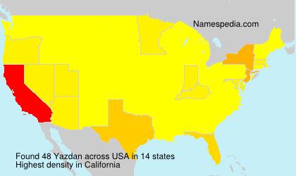 Surname Yazdan in USA