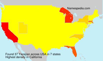 Familiennamen Yazejian - USA