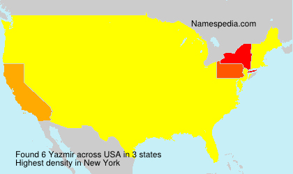 Surname Yazmir in USA
