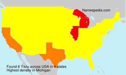 Surname Yazu in USA