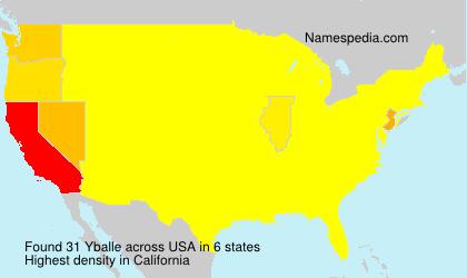 Surname Yballe in USA
