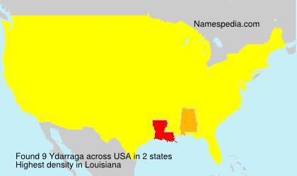 Familiennamen Ydarraga - USA