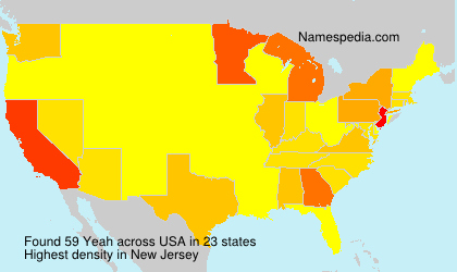 Surname Yeah in USA