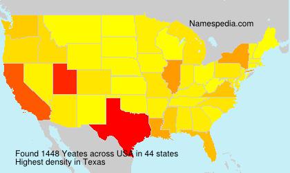 Familiennamen Yeates - USA
