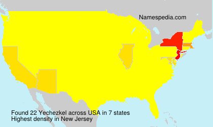 Surname Yechezkel in USA