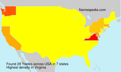 Surname Yeeles in USA