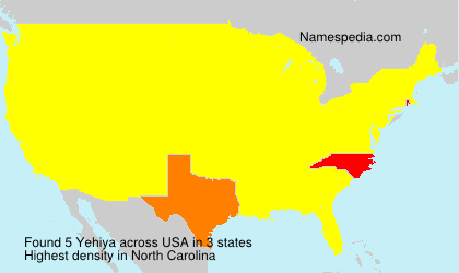 Surname Yehiya in USA