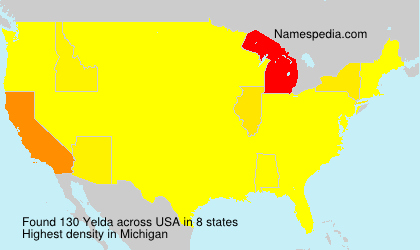 Surname Yelda in USA