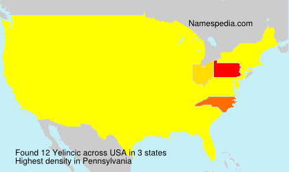 Surname Yelincic in USA