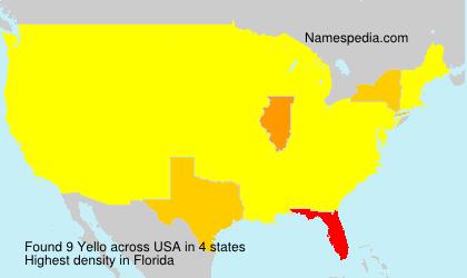 Surname Yello in USA
