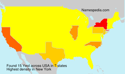 Surname Yeol in USA