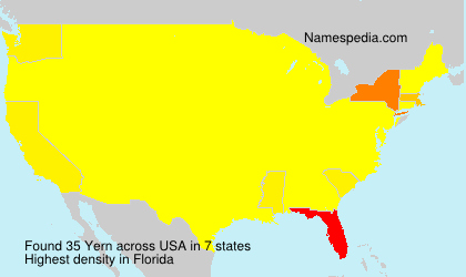 Surname Yern in USA