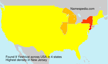 Surname Yeshivat in USA