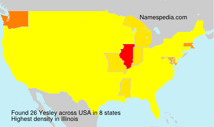 Surname Yesley in USA