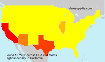 Surname Yetiz in USA