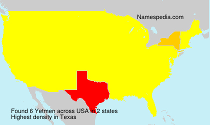 Surname Yetmen in USA