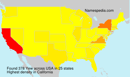Surname Yew in USA