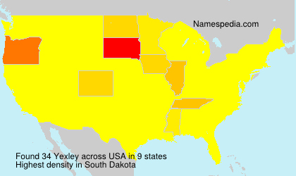 Familiennamen Yexley - USA