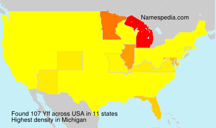 Surname Yff in USA
