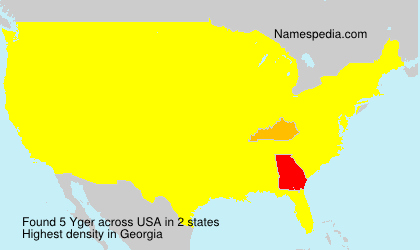 Surname Yger in USA