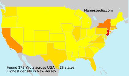 Surname Yildiz in USA
