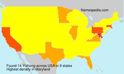 Surname Yizhong in USA