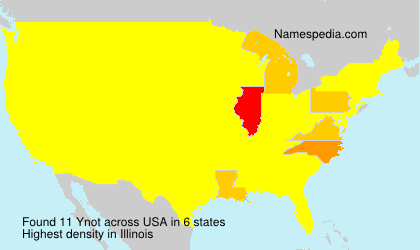 Surname Ynot in USA