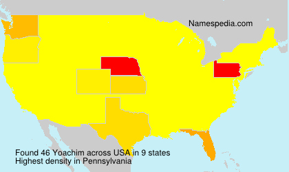 Surname Yoachim in USA