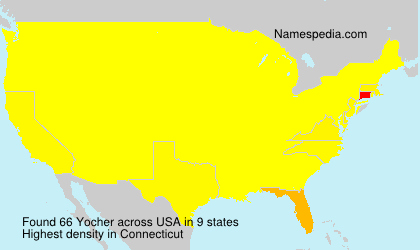 Surname Yocher in USA