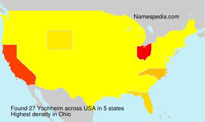 Surname Yochheim in USA