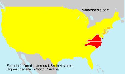 Surname Yonaitis in USA