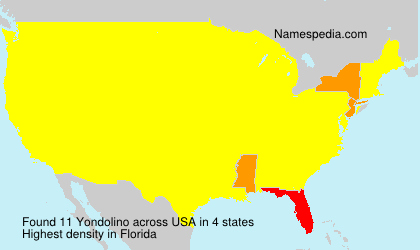 Surname Yondolino in USA