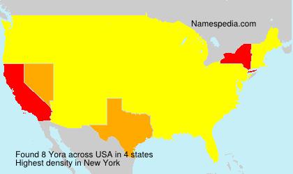 Surname Yora in USA