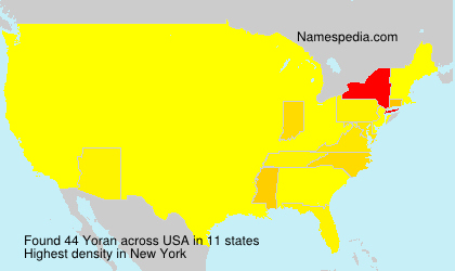 Surname Yoran in USA